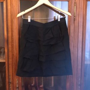 New without Tags Black linen skirt